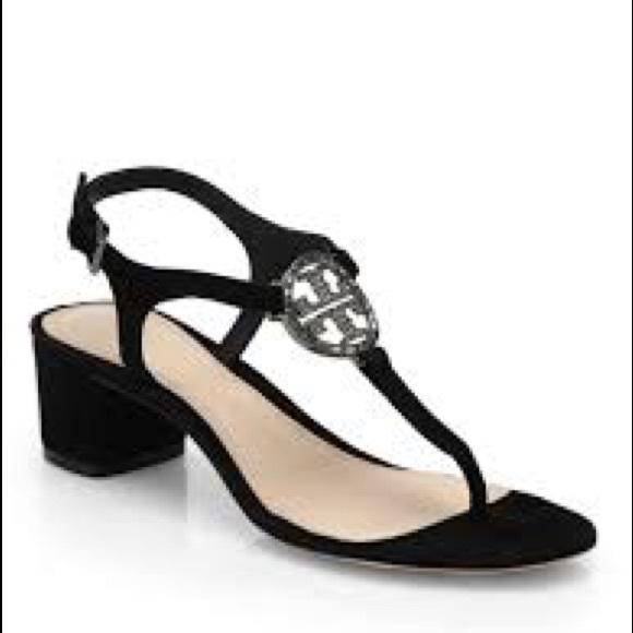 5d1ed7552fd2 Tory Burch Black Sandals Brand New